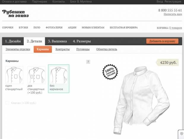 Рубашка на заказ (личный опыт, трафик)