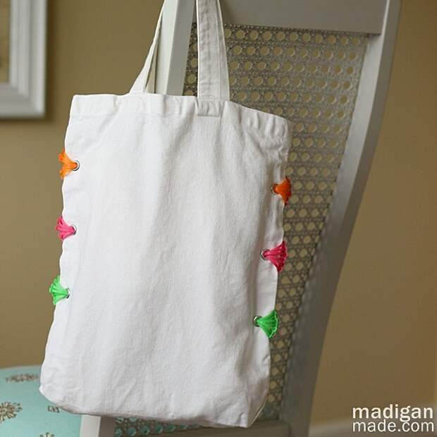 Креативный декор сумки-шоппера (Diy)