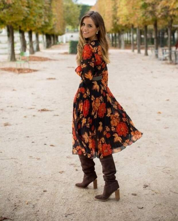 Сапоги + платья: 7 модных весенних идей.