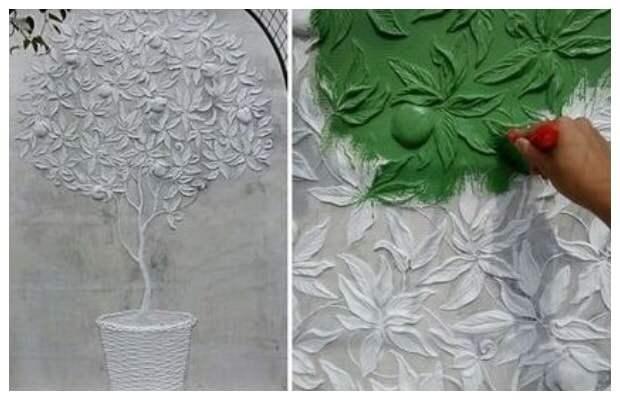 Удивительные идеи из гипса для украшения стен