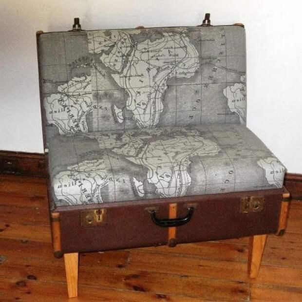 Самодельное кресло из чемодана