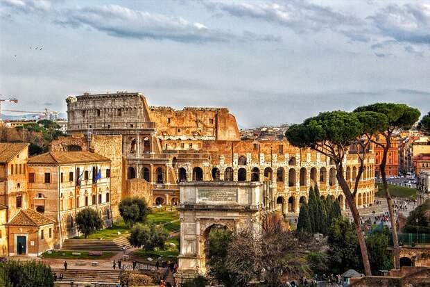 Колизей, Рим, Город, Римский Колизей, Италия