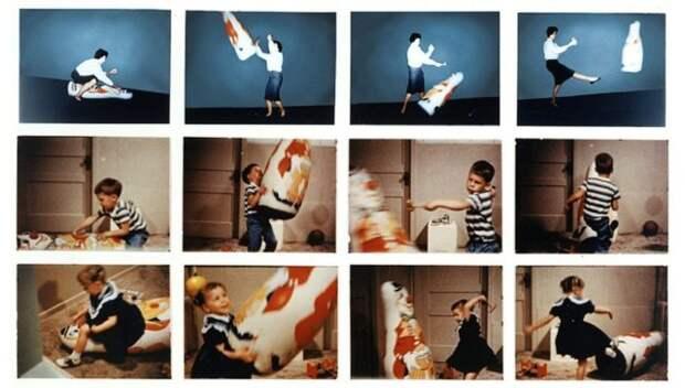 дети играют с куклой бобо