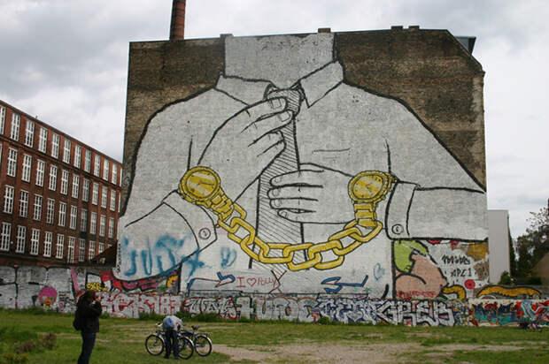 20 сильных стрит-арт-работ, раскрывающих правду жизни