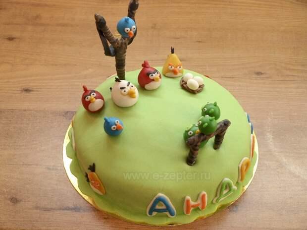Торт на День рождения - видео рецепт