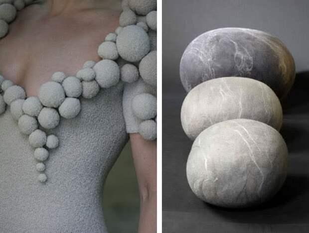Примеры интересного декора и фактур материала (трафик)