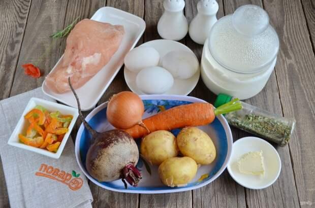 Свекольный суп с яйцом