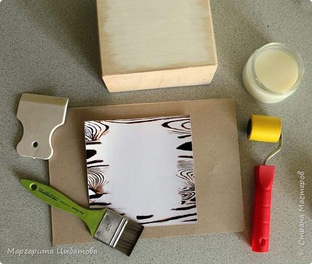 Декор предметов Мастер-класс День семьи Декупаж Ложный обжиг и браширование древесины Дерево Фанера фото 6