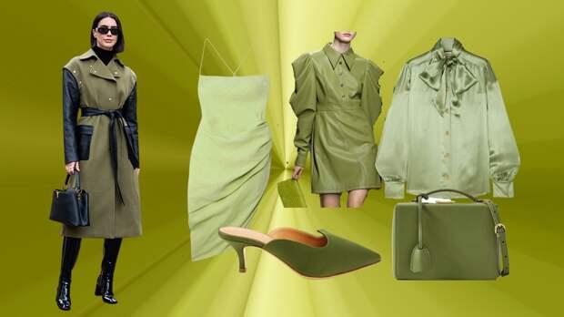 «Оливковая» весна: модный цвет оливы в весеннем гардеробе 2021