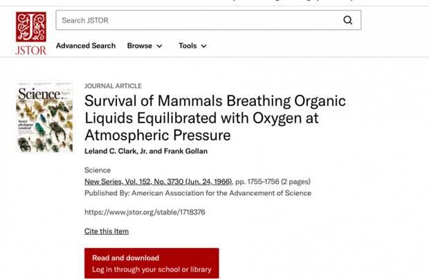 «Прорывные» исследования российских ученых в сфере жидкостного дыхания: реальное положение дел