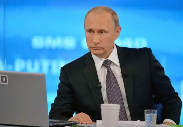 Direct line with Russia's president Vladimir Putin