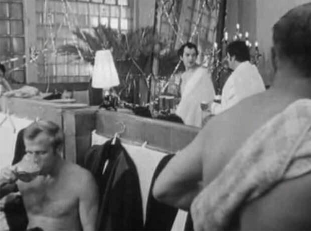 """""""Ирония судьбы или с лёгким паром!"""" Как снимали сцену в бане"""
