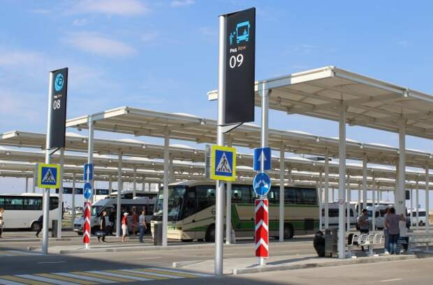 В  Международный аэропорт «Симферополь» перенесены автобусные кассы автостанции «Аэропорт»