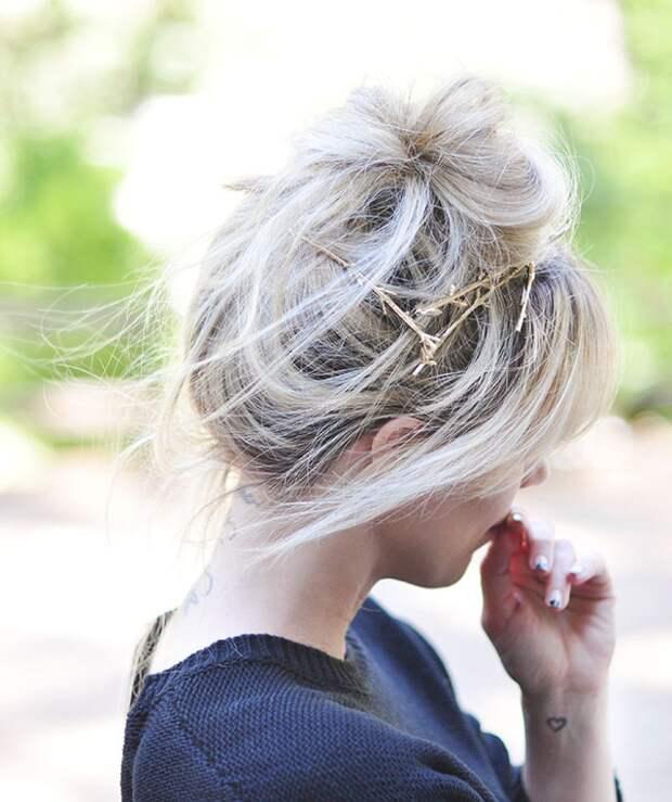 Веточки в волосах (Diy)