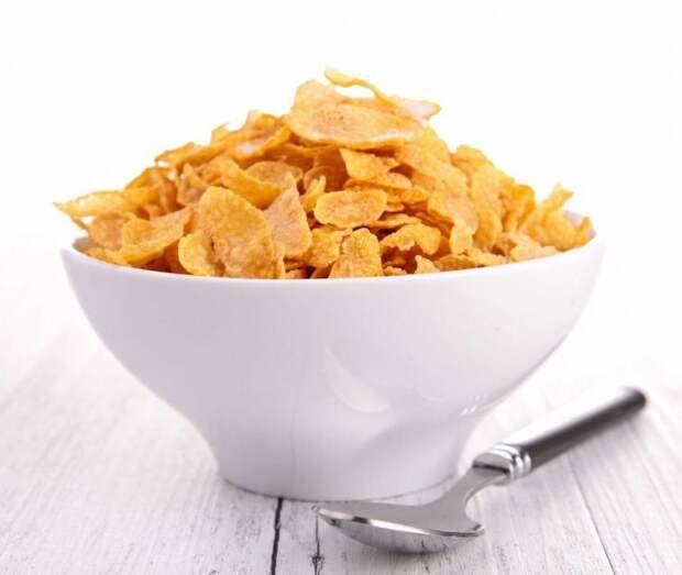 2. Кукурузные хлопья еда, продукты, фигура