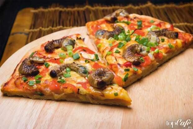Пицца из насекомых