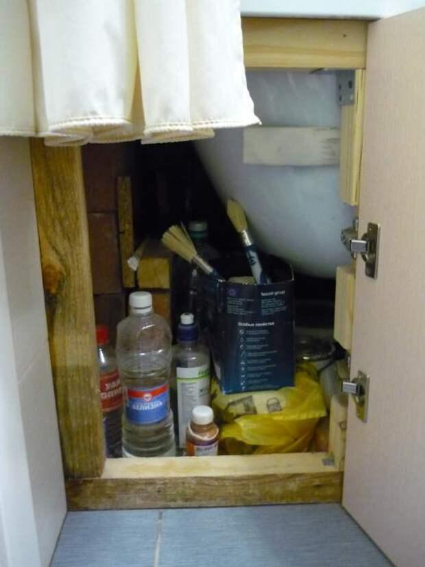 Отсек для хранения под ванной