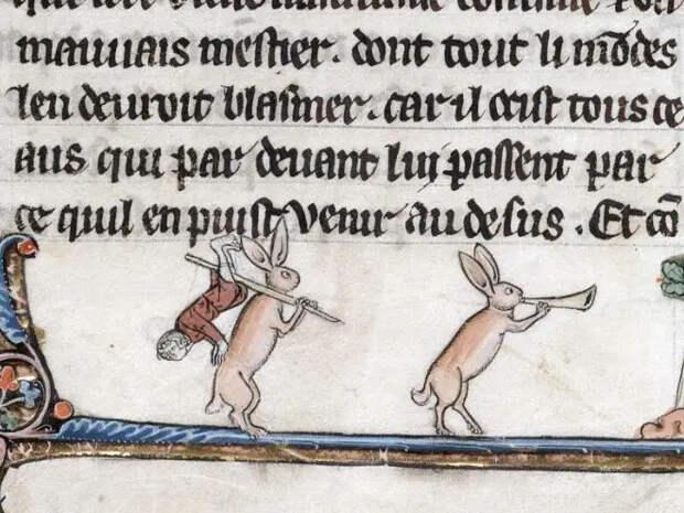 20 кроликов-убийц изсредневековых книг: почему именно этих зверьков рисовали такими злобными