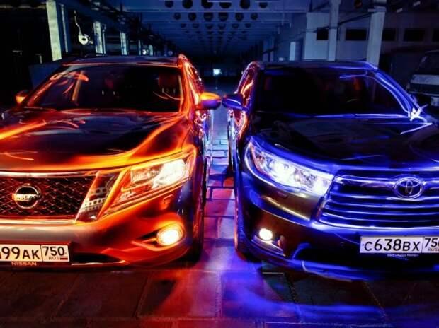 Тест Toyota Highlander и Nissan Pathfinder: цветная революция