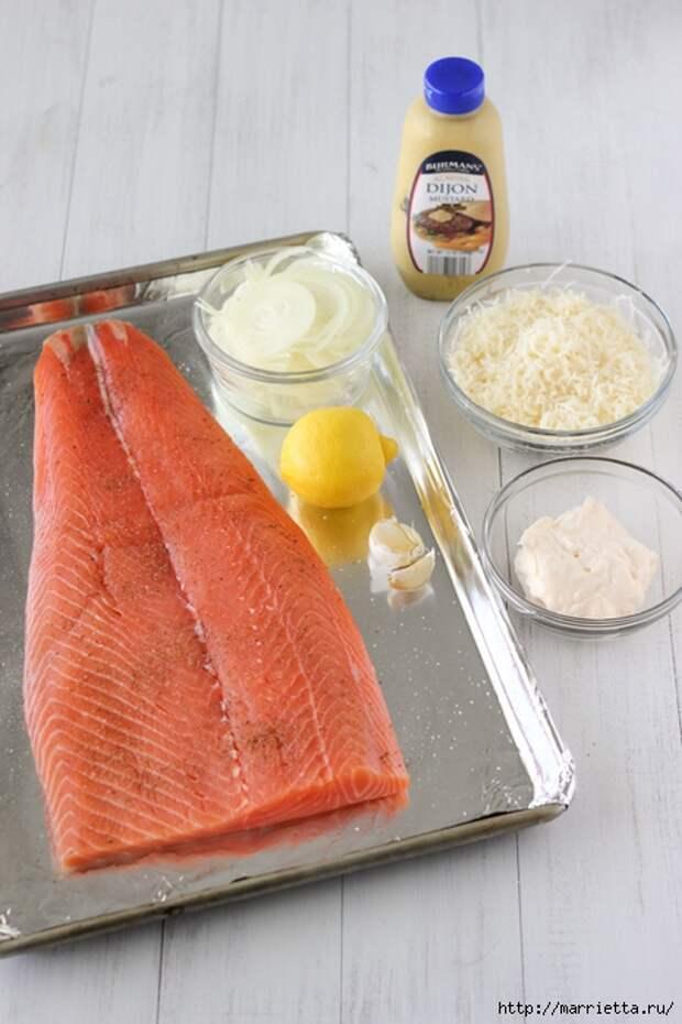 Запеченный лосось под сырной шубкой (1) (466x700, 240Kb)