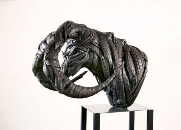 Современная скульптура или поделки из старых шин (7)