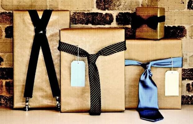 Идея упаковки  подарков папе или мужу