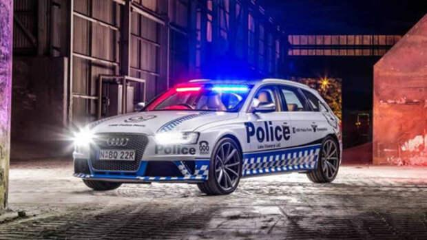 450-сильный Audi RS4 Avant вольется в ряды сиднейской полиции
