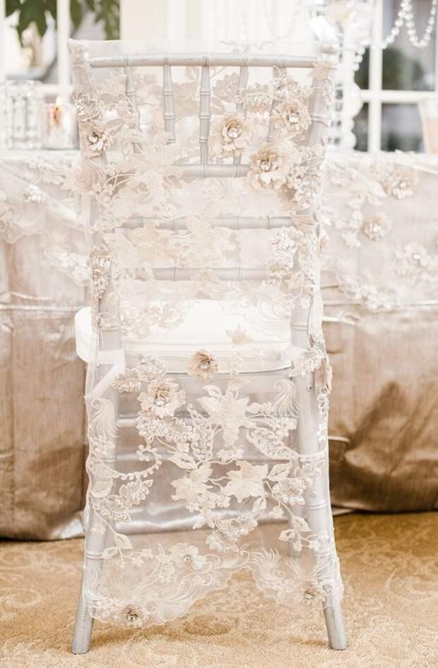 Свадебный декор стульев часть 1
