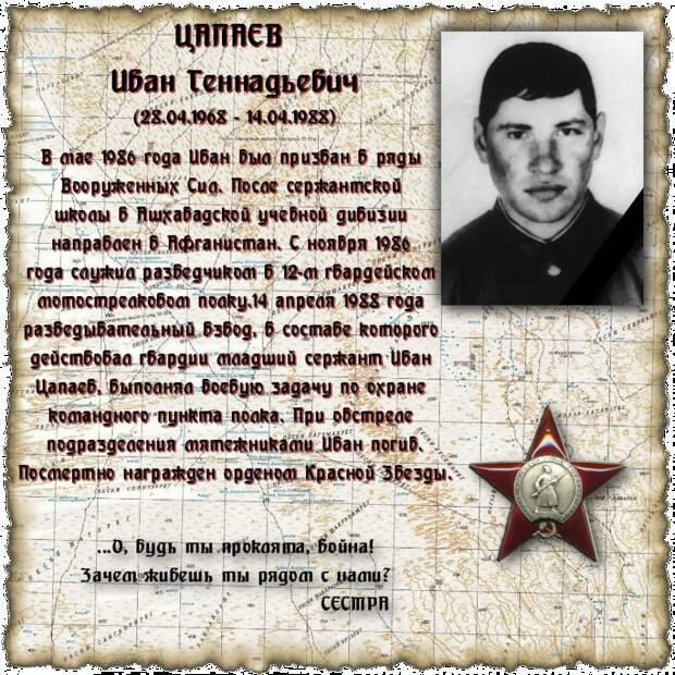 Младший сержант ЦАПАЕВ Иван Геннадьевич