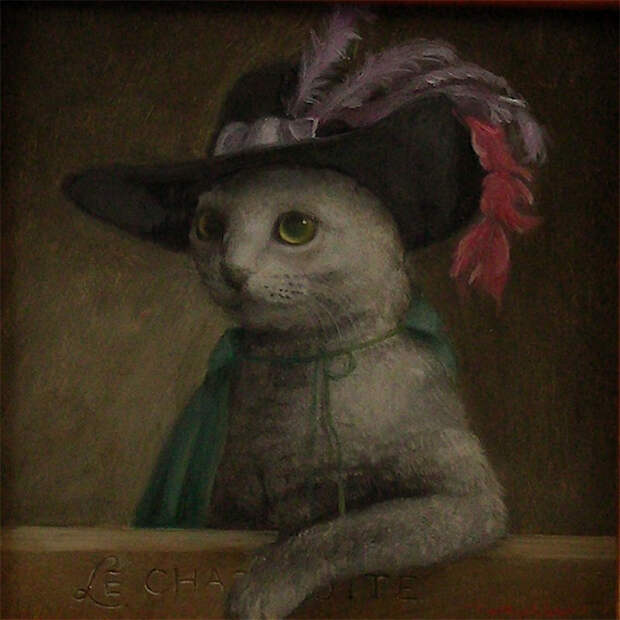 Коты — настоящие короли. Вот 8 картин, которые это доказывают