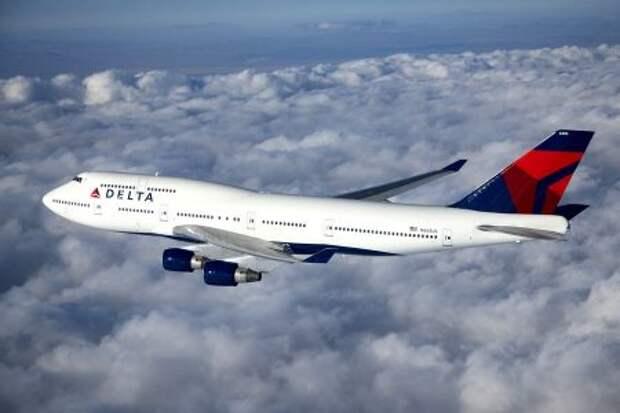 Boeing 747-451 авиакомпании Delta Air Lines