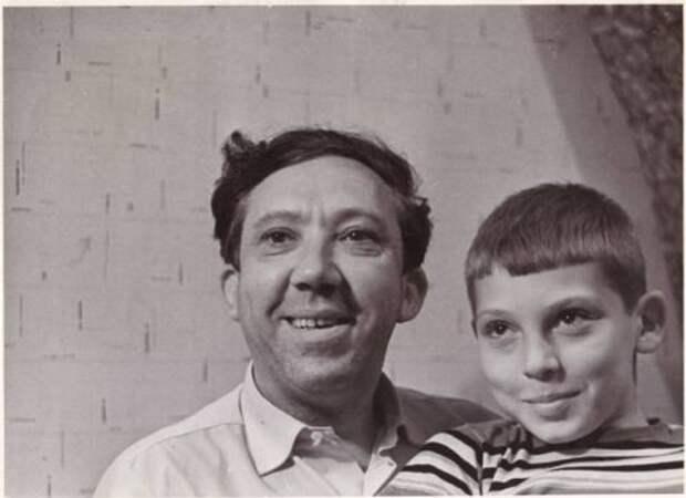 с сыном Максимом Редкие фото Юрия Никулина, история, фото
