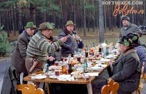 Л.И.Брежнев в охотхозяйстве Залесье.Украина.