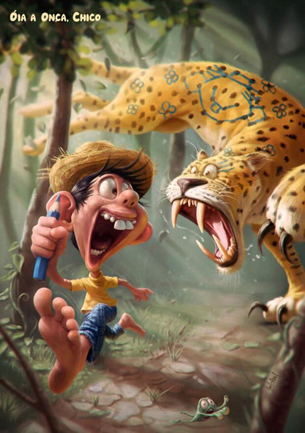 Невероятно смешные иллюстрации от бразильского художника