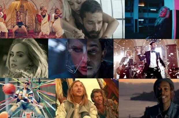 Top 10 музыкальных видео на YouTube 2015