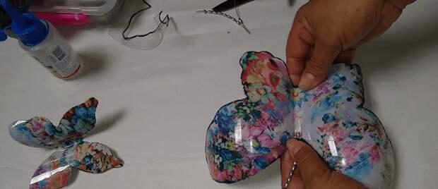 Необычная бабочка: эффектный интерьерный декор из простого материала
