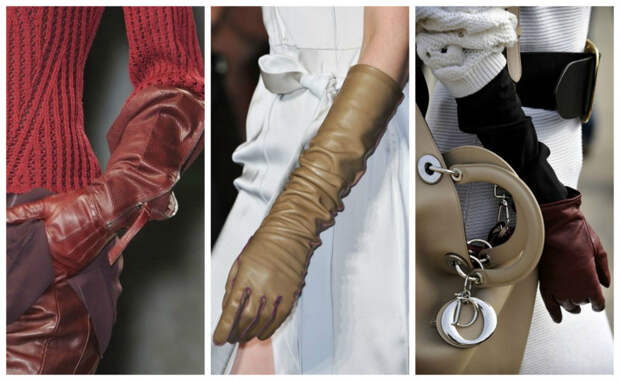 нейтральные тона перчаток