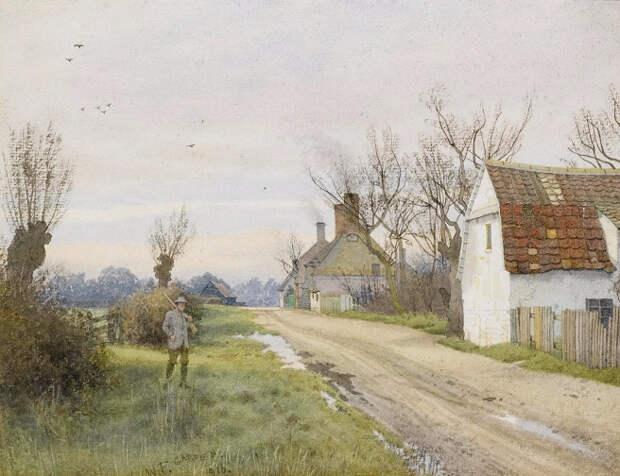 Хемингфорд-Грей, недалеко от Сент-Айвс, Хантингдоншире (Hemingford Grey, near St. Ives, Huntingdonshire). 1916 (656x504, 337Kb)
