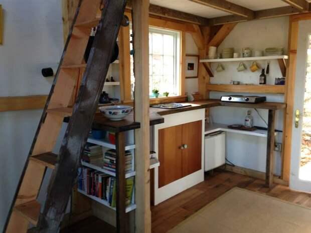 Удобный эко-дизайн маленького домика в штате Коннектикут.