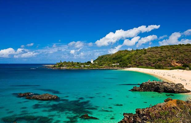 Удивительные пляжи с белоснежным песком