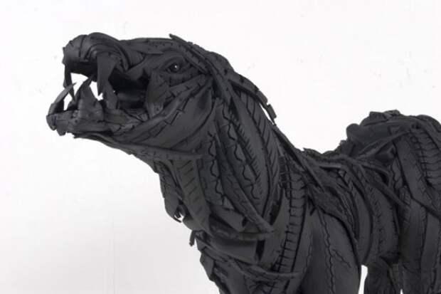 Современная скульптура или поделки из старых шин (8)