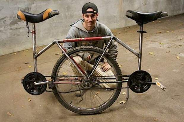Моноцикл- тандем.