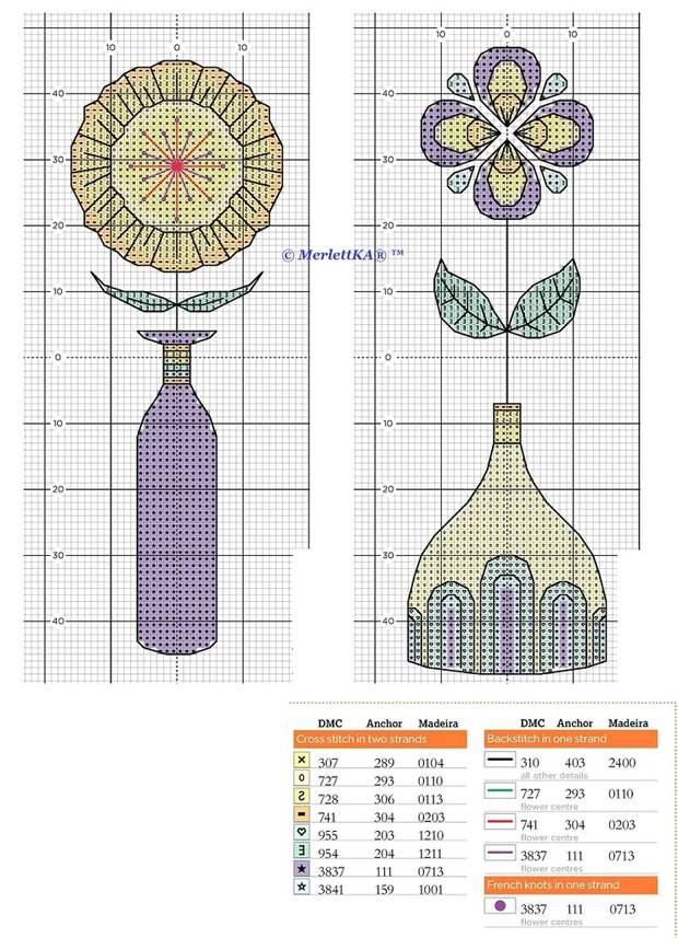 ВЫШИВАЕМ.  Шесть схем по вышивке крестиком для оформления детской