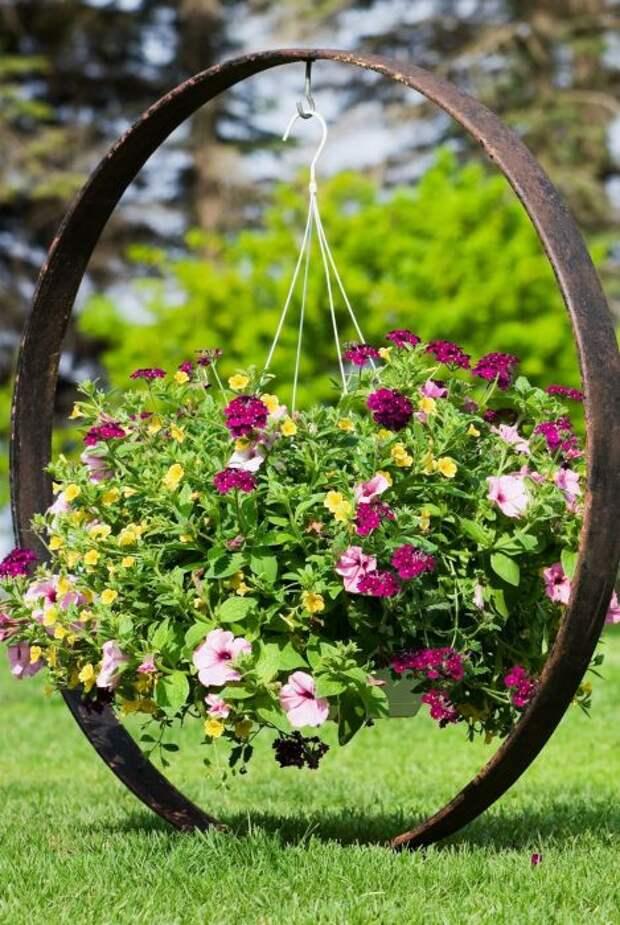 Если круг покрасить, будет еще красивее. /Фото: i.pinimg.com