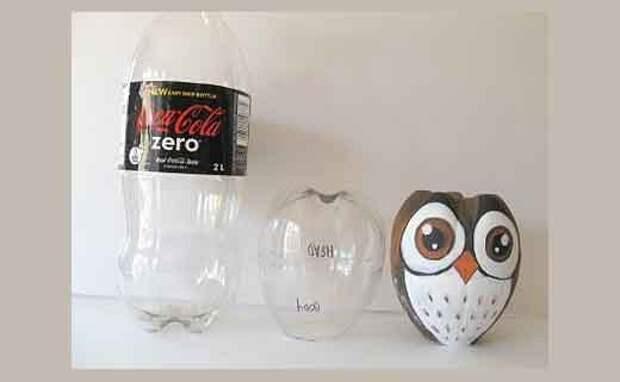 Поделки из пластиковых бутылок: чудо-совушка
