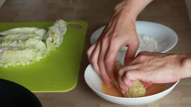 Капустные рулетики с сосисками - быстрый перекус в школу, на работу IrinaCooking, видео рецепт, еда, капуста, кулинария, перекус, рецепт, сосиски