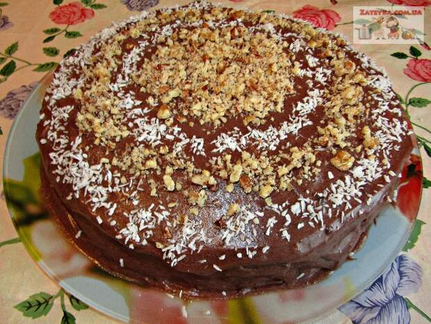 Торт на сгущенном молоке с шоколадным кремом