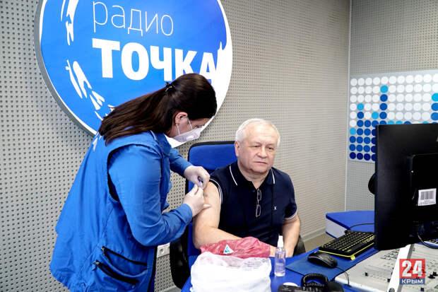 """Сотрудники телерадиокомпании """"Крым"""" вакцинировались """"Спутником V"""""""
