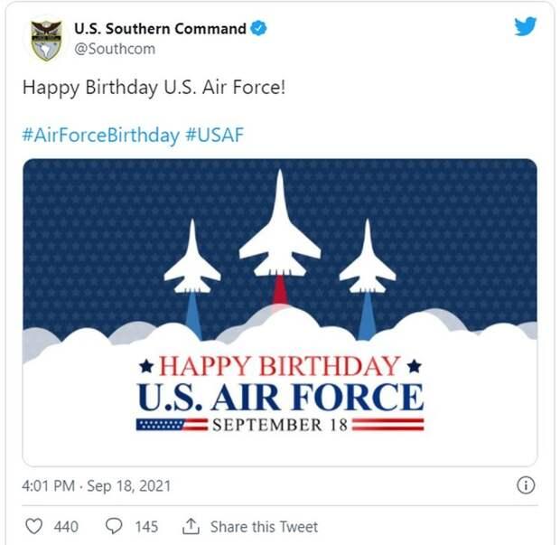 """Американцев разозлило поздравление с российскими Су-27: """"Исправьте это сейчас же, идиоты"""""""