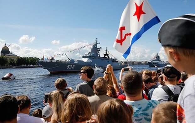 Самые зрелищные кадры главного морского парада в честь Дня ВМФ